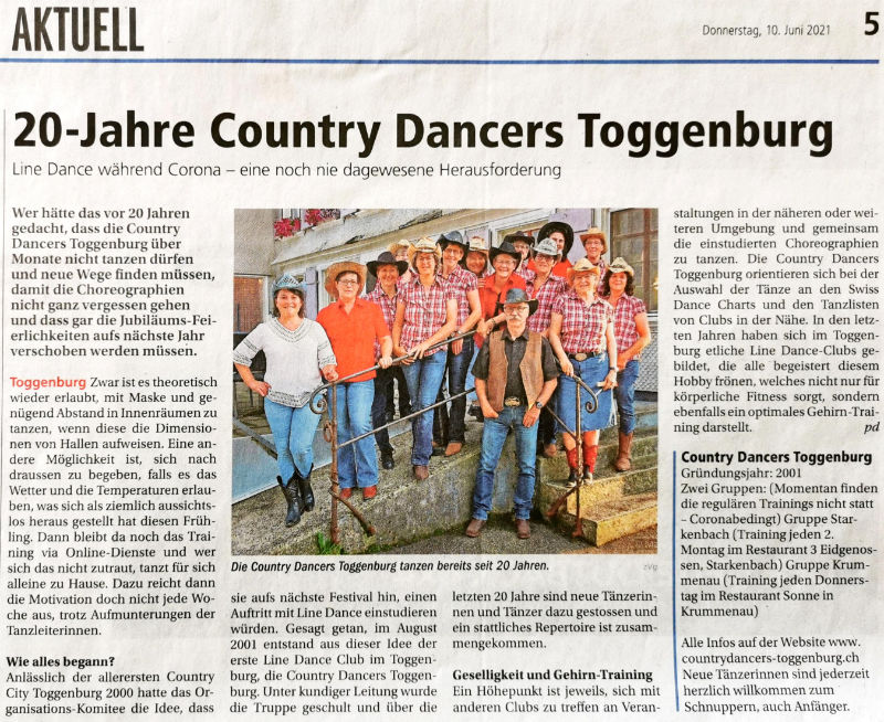 20 Jahre Country Dancers Toggenburg